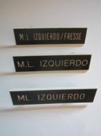 3 INSIGNES M.L IZQUIERDO / FRESSE - 43e Régiment D'infanterie ? Marqué Sur Insigne : NEW HERMES INC - Autres