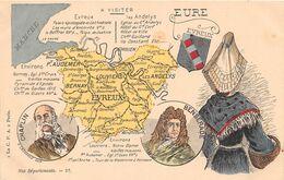 EURE - Carte Géographique - Unclassified