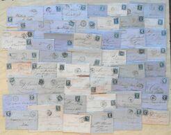 LOT De 50 LETTRES CLASSIQUES De FRANCE - DEPART 1 EURO - Postmark Collection (Covers)