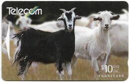 New Zealand - NZT (GPT) - Farm Animals - Feral Goat - 221CO - 1994, 10$, 80.000ex, Used - Nuova Zelanda