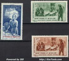 Saint Pierre Et Miquelon 1942   Poste Aérienne    CAT YT   N° 1 à 10     N*    MlH  Fraîcheur Postale - St.Pierre & Miquelon