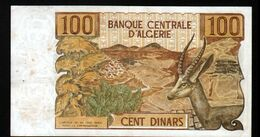 Algerie, Billet De 100 DINARS, 1-11-1970 - O077 - Algeria