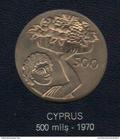 Cipro Cyprus FAO Coin Moneta 500 Mils 1970 - Cipro