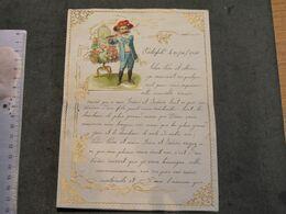 LETTRE MANUSCRITE AVEC DECOUPIS - OSTERFELD 20/12/1916 - VOIR SCANS - Manuscripts