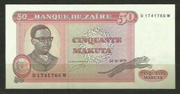 ZAIRE - BILLETE DE 50 MAKUTA - SIN CIRCULAR - Zaire