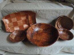 Occasion - Petit Lot De 8 Plats En Bambou - Andere Sammlungen