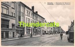 CPA OOSTENDE OSTENDE CHAUSSEE DE THOUROUT ( KAART BIJGEKNIPT ) - Oostende