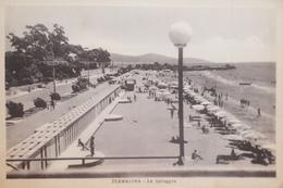 Cartolina - Terracina - La Spiaggia - 1950 - Latina
