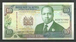 KENYA - BILLETE DE 10 SHILLINGI KUMI - SIN CIRCULAR - Kenia