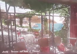 Cartolina - Amalfi - Terrazza Dell'Hotel S. Caterina - 1952 - Salerno