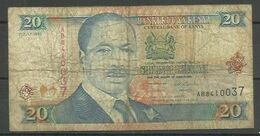 KENYA - BILLETE DE 20 SHILLINGI KUMI - USADO - Kenia