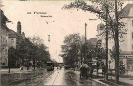 ! Alte Ansichtskarte Berlin Friedenau, Kaiserallee, Sentastraße, Straßenbahn, Tram, 1912 - Germania