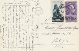 CARTOLINA 1939 50+1 L. PA AFRICA ORIENTALE ITALIANA TIMBRO ASMARA (KP93 - Africa Oriental Italiana