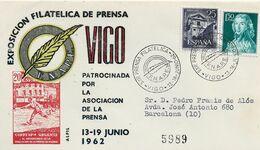 3553   Carta Certificada  Vigo 1962, Prensa F.N.A.P.E. - 1931-Aujourd'hui: II. République - ....Juan Carlos I