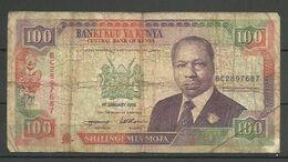 KENYA - BILLETE DE 100 SHILINGI MIA MOJAI - USADO - Kenia
