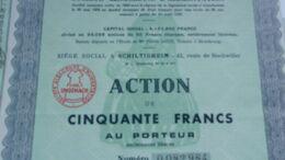 UNGEMACH Société Alsacienne D'alimentation (SCHILTIGHEIM) - Actions & Titres