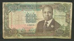 KENYA - BILLETE DE 200 SHILINGI MIA MBILI - USADO - Kenia