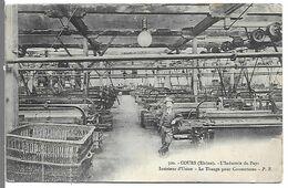 COURS - L' Industrie Du Pays - Intérieur D'Usine - Le Tissage Pour Couvertures - Cours-la-Ville