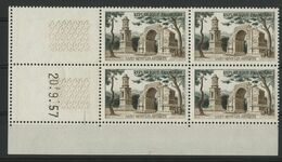 N° 1130 BLOC DE QUATRE + COIN DATE Du 20/9/57 COTE 3 € NEUF ** (MNH) - 1950-1959