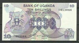 UGANDA - BILLETE DE 10 SHILINGI KUMA - SIN CIRCULAR - Oeganda