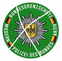 Bundesgrenzschutz Rontière RFA/RDA (Autocollant) - Police
