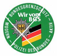 Bundesgrenzschutz - Wir Vom BGS Rontière RFA/RDA  (Autocollant) - Police