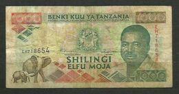 TANZANIA - BILLETE DE 1000 SHILLINGI - USADO - Tanzania