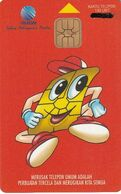 INDONESIA(chip) - Telekomindo Mascot(red), Telkom Telecard 140 Units, Tirage 30000, Used - Indonesia