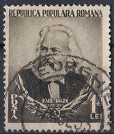 ROMANIA 1428,used,falc Hinged - Karl Marx