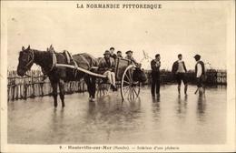 CPA Hauteville Sur Mer Manche, Interieur D'une Pecherie - Frankreich