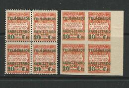 SPAGNA 1930 BARCELONA - Edifil **n.° 2 + 2s  ** - Unificato N.° 10 + 10a ** Varietà  - Cat. 260 €  L. 1213 - Barcelona