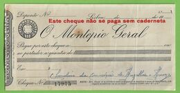 Lisboa - Cheque Do  Banco Montepio Geral - Portugal - Assegni & Assegni Di Viaggio