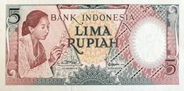 Indonesia 5 Rupiah, P-55 (1958) - UNC - Indonesia
