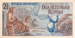 Indonesia 2 1/2 Rupiah, P-79 (1961) - UNC - Indonesia
