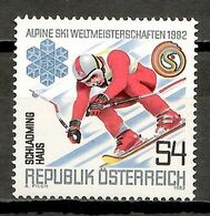 Austria 1982 / Winter Sports Ski MNH Esquí Deportes De Invierno Skifahren / Fv43  38-11 - Wintersport (Sonstige)