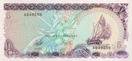 Maldives 5 Rufiyaa, P-10 (7.10.1983) - UNC - Maldiven