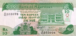 Mauritius 10 Rupees, P-35b (1985) - EF/XF - Mauritius