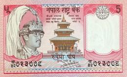 Nepal 5 Rupees, P-30a (1987) - UNC - Nepal