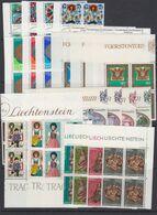 Liechtenstein 1977 Year Bl Of 4 (see Scan) ** Mnh (49995) - Années Complètes