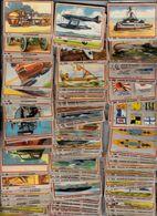 """Chromo's Chocolade Jacques  Chocolat """" Auto's Vliegtuigen Oorlogs-marine """" 355/360 Verschillende Prentjes - Sammelbilderalben & Katalogue"""