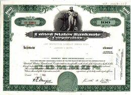 UNITED STATES BANKNOTE CORPORATION - Banque & Assurance