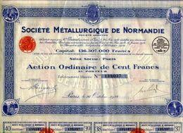 Sociètè METALLURGIQUE De NORMANDIE - Industrie