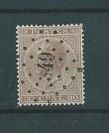 N° 19A OBLITERE LP 49 BOUSSU - 1865-1866 Profile Left