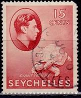 Seychelles, 1938, KGVI Definitive, 15c, Sc#133, Used - Seychellen (...-1976)