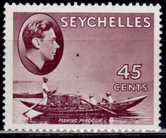 Seychelles 1938-41, King George VI Definitive, 45c, Sc#140, MLH - Seychellen (...-1976)