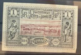 1894/1900  Y Et T 6 Sans Gomme - Côte Française Des Somalis (1894-1967)