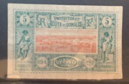 1894/1900  Y Et T 9 Sans Gomme - Côte Française Des Somalis (1894-1967)