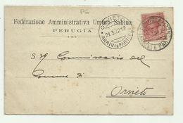 PERUGIA - FEDERAZIONE AMMINISTRATIVA UMBRO SABINA 1922 VIAGGIATA FP - Perugia