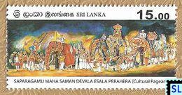 Sri Lanka Stamps 2020, Saparagamu Maha Saman Devala Esala Perahera, Buddha, Buddhism, Elephants, Elephant, MNH - Sri Lanka (Ceylon) (1948-...)