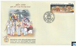 Sri Lanka Stamps 2020, Saparagamu Maha Saman Devala Esala Perahera, Buddha, Buddhism, Elephants, Elephant, FDC - Sri Lanka (Ceylon) (1948-...)